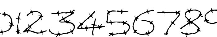 Barbed Wires Font OTHER CHARS
