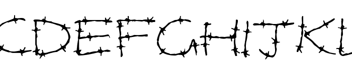 Barbed Wires Font UPPERCASE