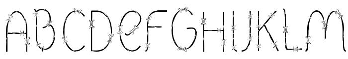 Barbed Font UPPERCASE
