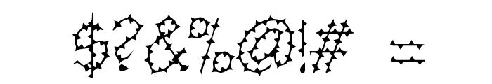 BarbedWire Font OTHER CHARS