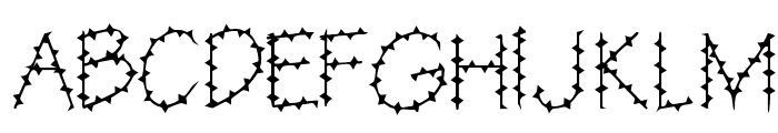 BarbedWire Font UPPERCASE