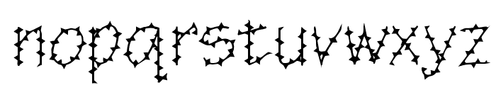 BarbedWire Font LOWERCASE