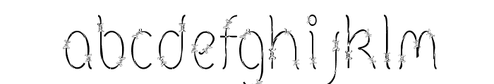 Barbed Font LOWERCASE