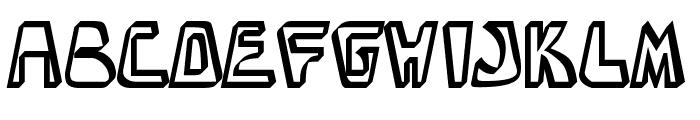 BarbibarianMarker-Regular Font UPPERCASE