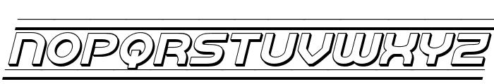 Barcade 3D Italic Font UPPERCASE