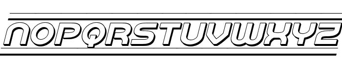 Barcade 3D Italic Font LOWERCASE