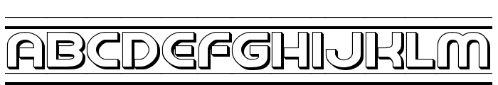 Barcade 3D Font LOWERCASE