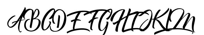 Bareken Font UPPERCASE