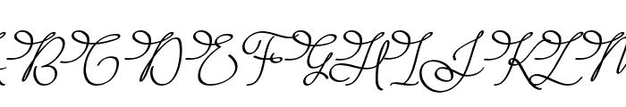 Barista Script Font UPPERCASE