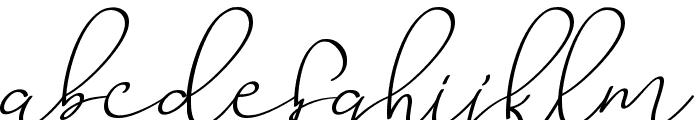 Barista Script Font LOWERCASE