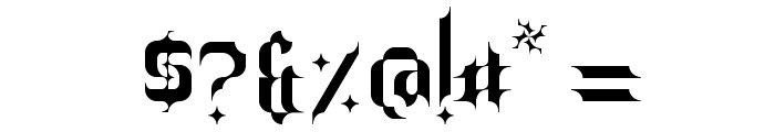Barjola Condensed  Font OTHER CHARS