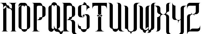 Barjola Condensed  Font UPPERCASE