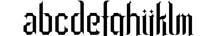 Barjola Condensed  Font LOWERCASE