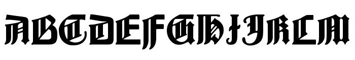 BarloesiusSchrift Font UPPERCASE