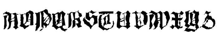 Barlos-Random Font UPPERCASE