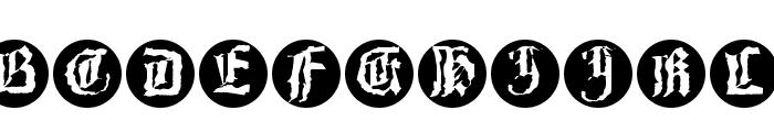 Barlos-RandomRings Font LOWERCASE