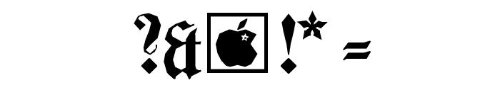 BarlosiusEdged Font OTHER CHARS