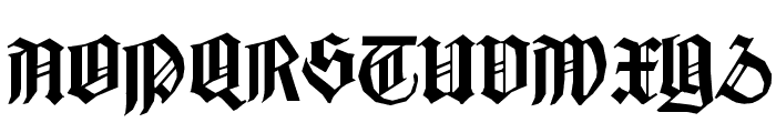 BarlosiusEdged Font UPPERCASE