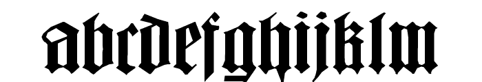 BarlosiusEdged Font LOWERCASE