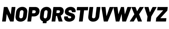Barlow Black Italic Font UPPERCASE