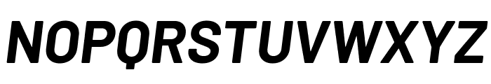 Barlow Bold Italic Font UPPERCASE