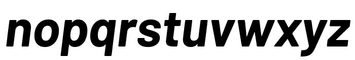 Barlow Bold Italic Font LOWERCASE