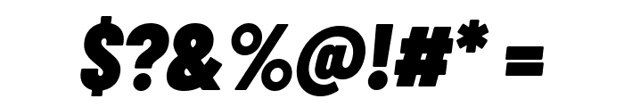 Barlow Condensed Black Italic Font OTHER CHARS