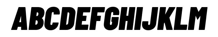 Barlow Condensed Black Italic Font UPPERCASE