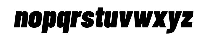 Barlow Condensed Black Italic Font LOWERCASE