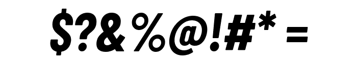 Barlow Condensed Bold Italic Font OTHER CHARS