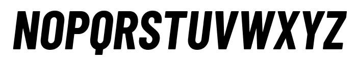 Barlow Condensed Bold Italic Font UPPERCASE