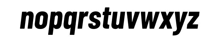 Barlow Condensed Bold Italic Font LOWERCASE