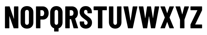 Barlow Condensed Bold Font UPPERCASE
