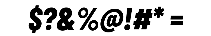 Barlow Condensed ExtraBold Italic Font OTHER CHARS