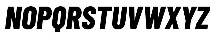 Barlow Condensed ExtraBold Italic Font UPPERCASE