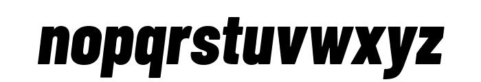 Barlow Condensed ExtraBold Italic Font LOWERCASE