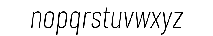 Barlow Condensed ExtraLight Italic Font LOWERCASE