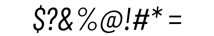 Barlow Condensed Italic Font OTHER CHARS
