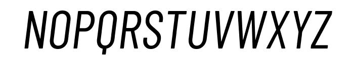 Barlow Condensed Italic Font UPPERCASE