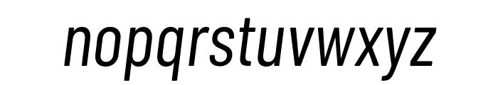 Barlow Condensed Italic Font LOWERCASE