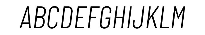 Barlow Condensed Light Italic  What Font is