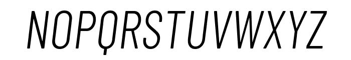 Barlow Condensed Light Italic Font UPPERCASE