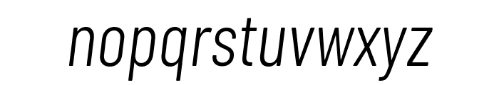 Barlow Condensed Light Italic Font LOWERCASE