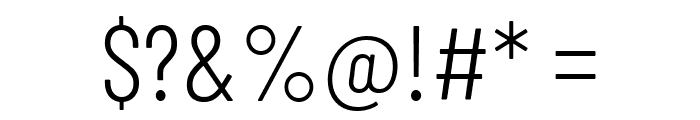 Barlow Condensed Light Font OTHER CHARS