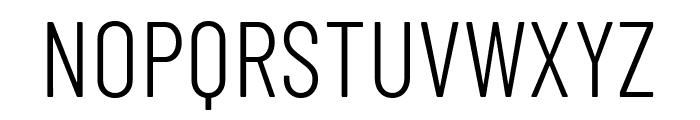 Barlow Condensed Light Font UPPERCASE