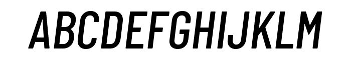 Barlow Condensed Medium Italic Font UPPERCASE