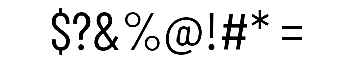 Barlow Condensed Regular Font OTHER CHARS