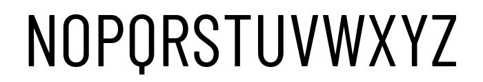 Barlow Condensed Regular Font UPPERCASE