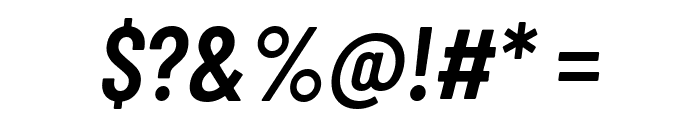 Barlow Condensed SemiBold Italic Font OTHER CHARS