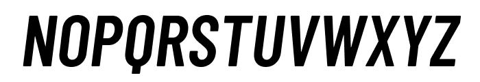 Barlow Condensed SemiBold Italic Font UPPERCASE